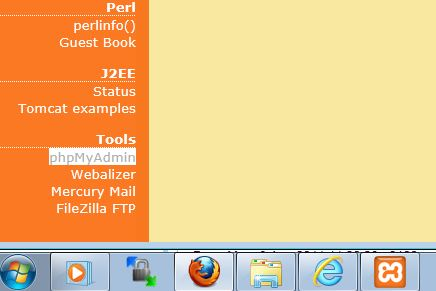 Xampp configuration screen fixed