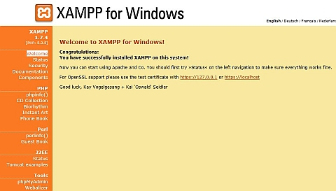 Xampp configuration Windows 7 64 bit