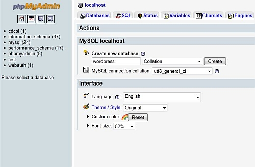 Xampp phpmyadmin wordpress setup